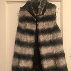 Faux fur vest by Rachel Zoe